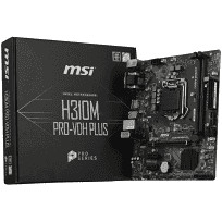 MATHER BOARD MSI H310M PRO-VDH PLUS LGA 1151-v2 (8va Gen) Intel H310 ChipSet HDMI, DVI-D, VGA, Micro-ATX