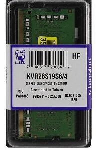 KINGSTON® MEMORIA DDR4 4GB 2666MHz Value RAM