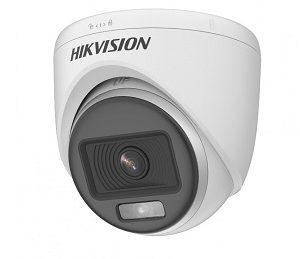 Turret TVI 2MP, ColorVu, 20M luz blanca, DS-2CE70DF0T-PF 3,6mm Hikvision